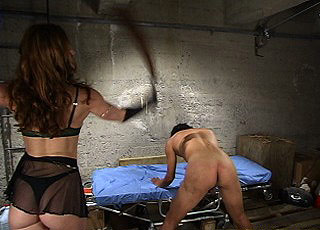 Forced sex in femdom dungeon